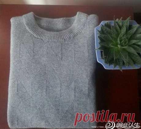 патентный узор для элегантного пуловера