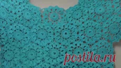 Как соединять мотивы - вязание блузки из мотивов - урок вязания крючком