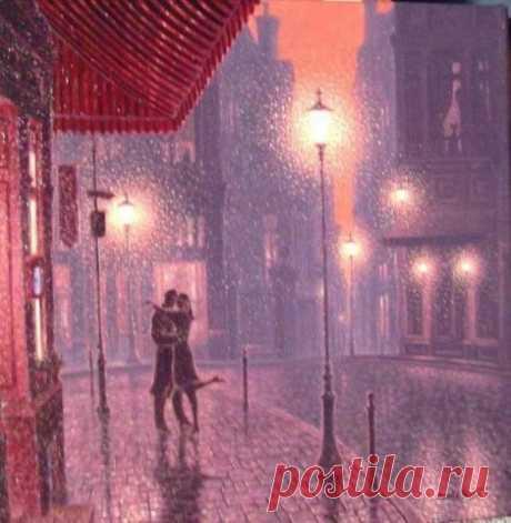 Танго в Париже под дождем.