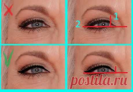 Странно, что не все знают: 2 правила подведения глаз карандашом в зрелом возрасте, которые омолаживают взгляд | О макияже СмиКорина | Яндекс Дзен