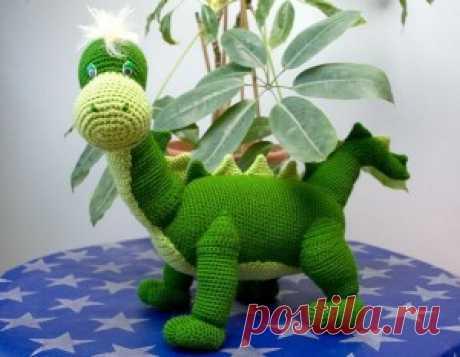 Схема и описание вязаного динозавра Дино