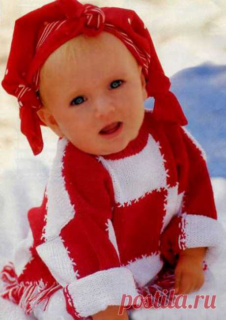 Вязаный детский свитер с бахромой. Вязаный детский свитер с бахромой. В статье представлены подробное текстовое описание вязания спицами данной модели и схема узора.