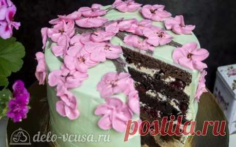 Шоколадный торт с вишней, рецепт с фото