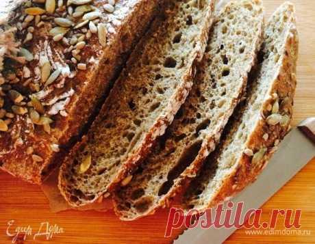 Ржаной хлеб (без замеса). Ингредиенты: мука, ржаная мука, дрожжи сухие