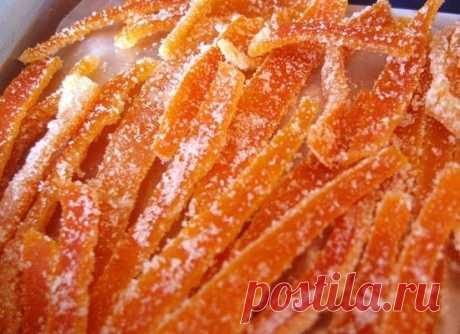 Как приготовить цукаты из апельсиновых корочек - рецепт, ингридиенты и фотографии