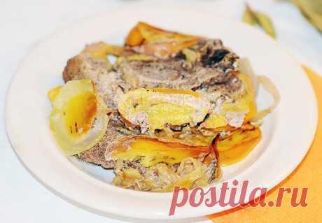Мясо запеченное с хурмой и луком в духовке - рецепт с пошаговыми фото   Все Блюда
