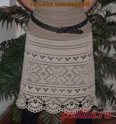 Очень красивая юбка филейным узором. Связать юбку в технике филейного вязания | Домоводство для всей семьи.