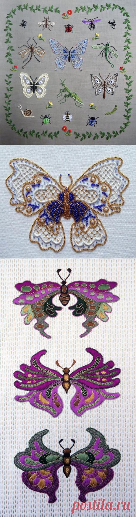 А вы любите вышивать бабочек, стрекоз и прочую живность?   ВЕРА БУРОВА   Яндекс Дзен