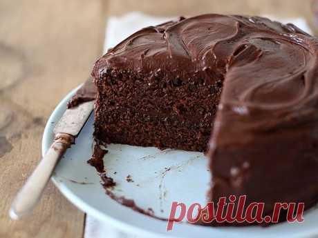 Влажный шоколадный пирог (без яиц)
