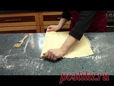 La hojaldre con levadura para Kruassanov - la receta de la Abuela Ema