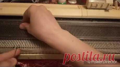Шапка с фасонными убавками на однофонтурной машине
