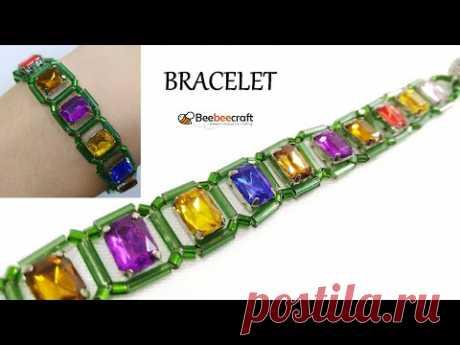 Колье из Бисера и Страз Мастер Класс / Beebeecraft / Necklace from Beads and Straz Master Class