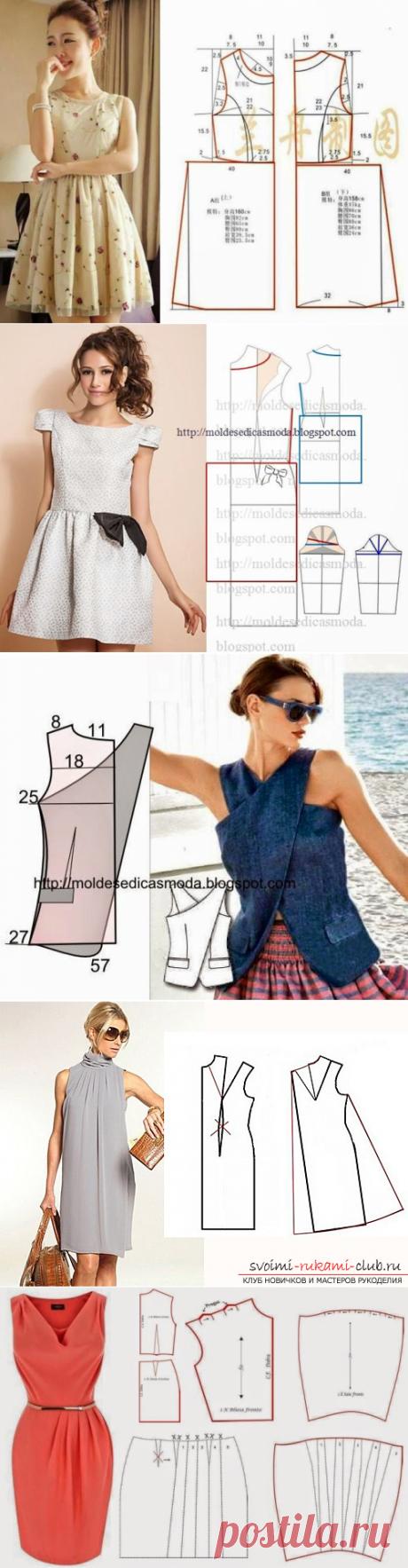 Блузки и платья с выкройками на любой вкус! » Женский Мир