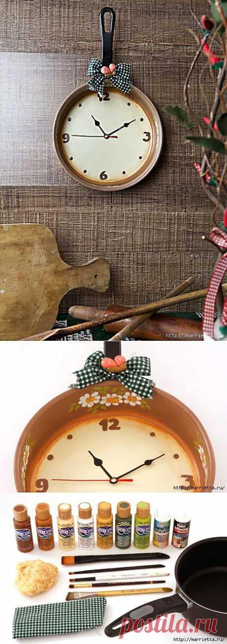 Las horas de kovshika para vintazhnogo del interior. Una pequeña foto-clase maestra.