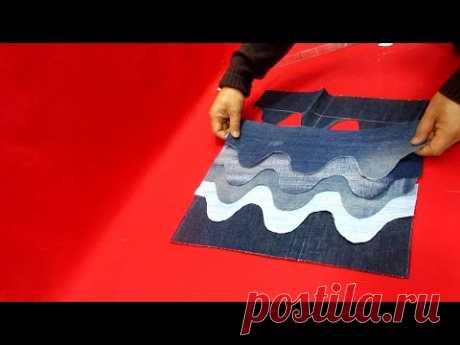 """DIY오래된 청바지 리폼 잘하면""""명품백""""부럽지 않아요/if you're good at reform.you're not envious of """"luxury bag""""/wave bag"""