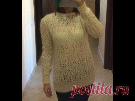 Анонс МК по вязанию чудесного бесшовного ажурного свитерка с мохера/ Crochet/ Knitting