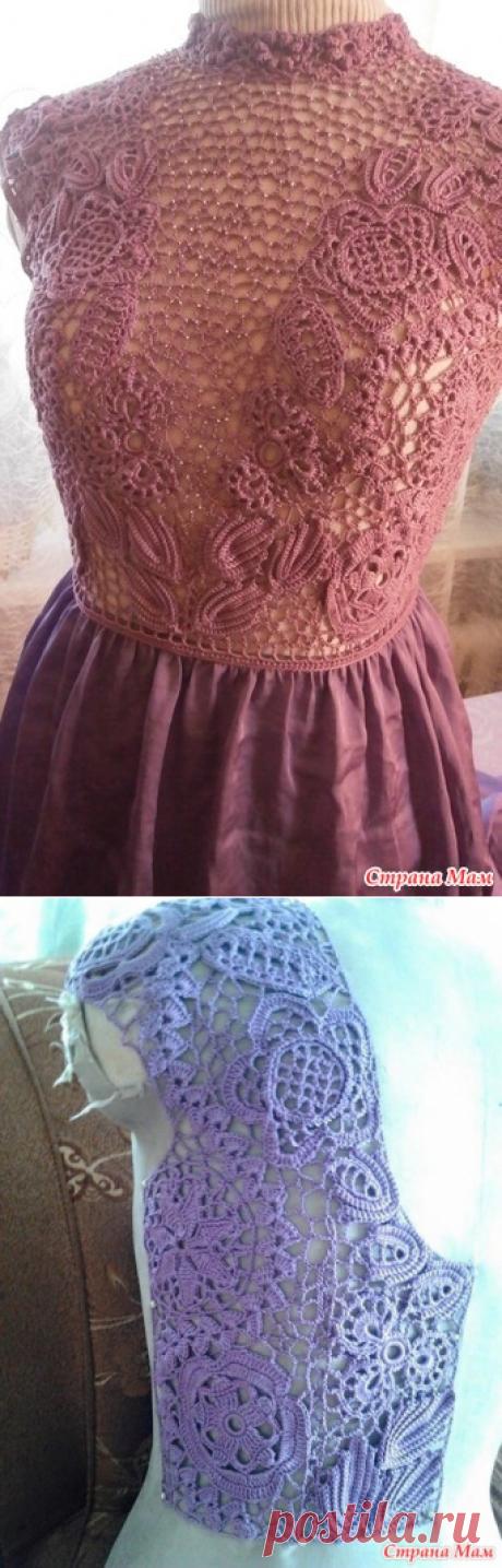 El vestido combinado: ткань+ирландия. - la Labor de punto - el País de las Mamás