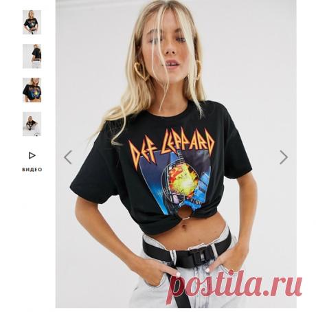 Идея переделки футболки от Bershka