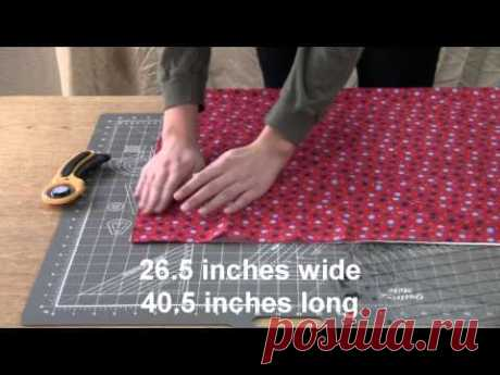 How to Make a Pillowcase: Step 1 of 7 - Cutting the Fabric
