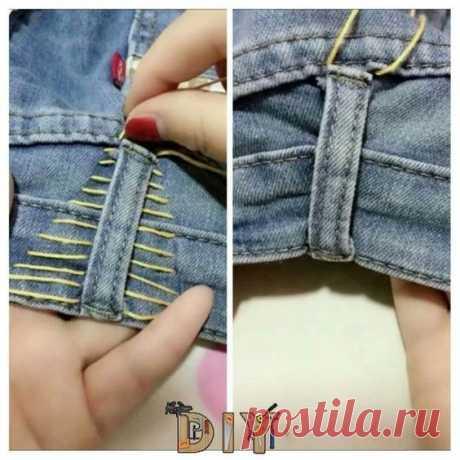 Как приталить широкие джинсы или брюки Модная одежда и дизайн интерьера своими руками