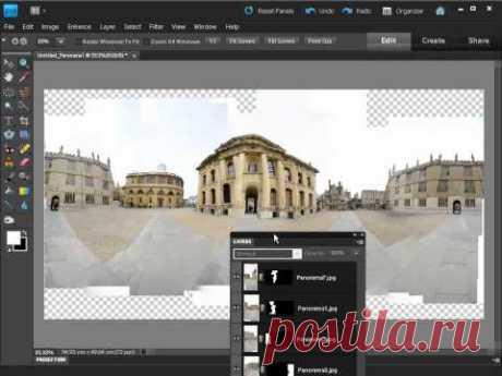 Создаем круговую панораму в ADOBE PHOTOSHOP