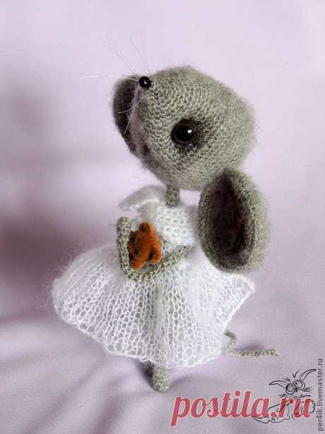 Купить мышка Ассоль - авторская работа, авторская игрушка, серый, перцева, светлана перцева