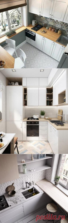 Как сделать маленькую кухню комфортнее за счёт дизайна   ДНЕВНИК АРХИТЕКТОРА   Яндекс Дзен