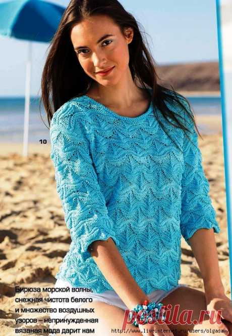 As it is good to be able to knit: A pullover with a relief pattern......