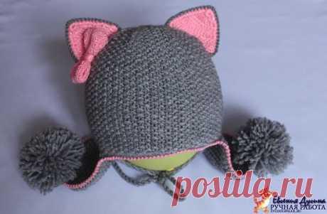 Шапочка для девочки / Вязание спицами / Вязание спицами для детей