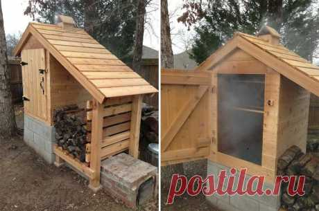 How to make the smoking shed with own hands