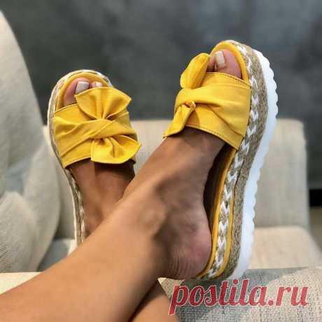 433.48руб. 33% СКИДКА|2020 летние модные сандалии, обувь, женские летние сандалии с бантом, тапочки, уличные шлепанцы, Пляжная женская обувь, Тапочки|Боссоножки и сандалии|   | АлиЭкспресс Покупай умнее, живи веселее! Aliexpress.com