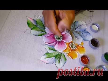 Roberto Ferreira -  Aprenda a Pintar Flores do campo e folhas modernas