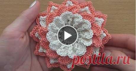 Вязание Крючком Цветок Учебник-В Ayi
