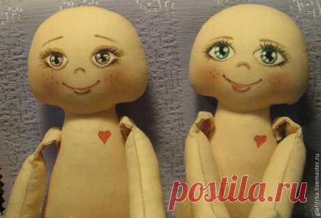 Как разметить лицо текстильной куколки – Ярмарка Мастеров