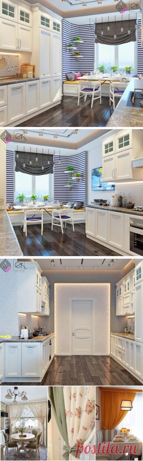 Шторы для кухни: 35 идей модного комбинирования