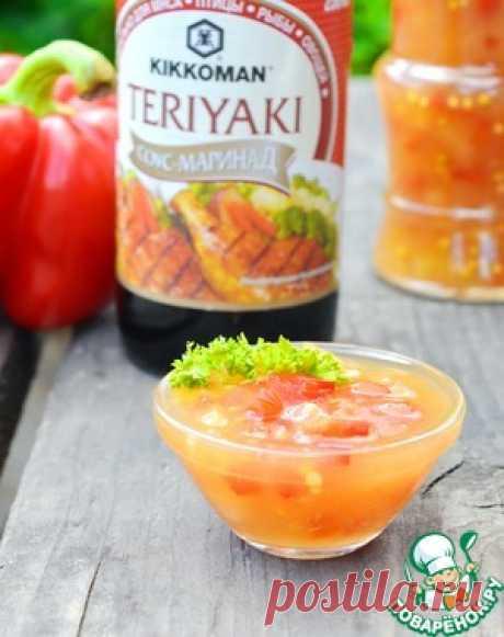 Острый ананасовый соус со сладким перцем - кулинарный рецепт