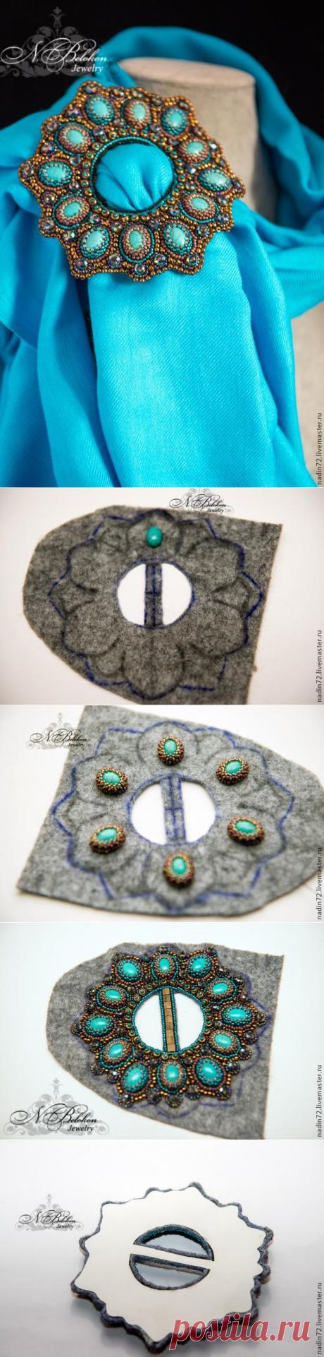 Пряжка многофункциональная. Вышивка бисером - Ярмарка Мастеров - ручная работа, handmade