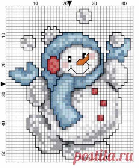 В дополнение к схемам снеговичков. / Вышивка / Схемы вышивки крестом, вышивка крестиком