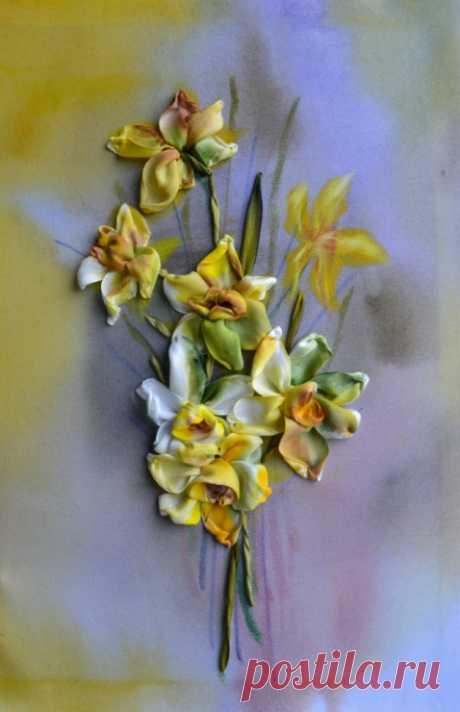 """(6) Gallery.ru / """"Narcisos"""" - Bordado con cintas 2016. - marusya78"""