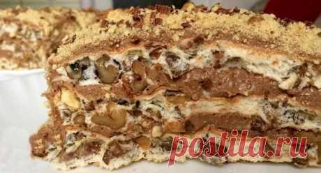 Королевский торт без муки с грецкими орехами с кремом Предлагаю вам интересный рецепт с не менее интересным названием - королевский торт без муки с грецкими орехами! Вся изюминка - в креме!
