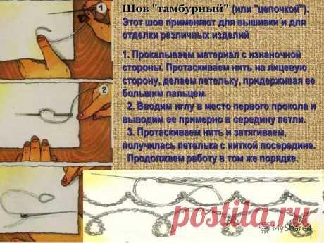La costura de cadeneta por la aguja como hacer la instrucción detallada: 9 tys de las imágenes es encontrado en el Yandex. Las estampas