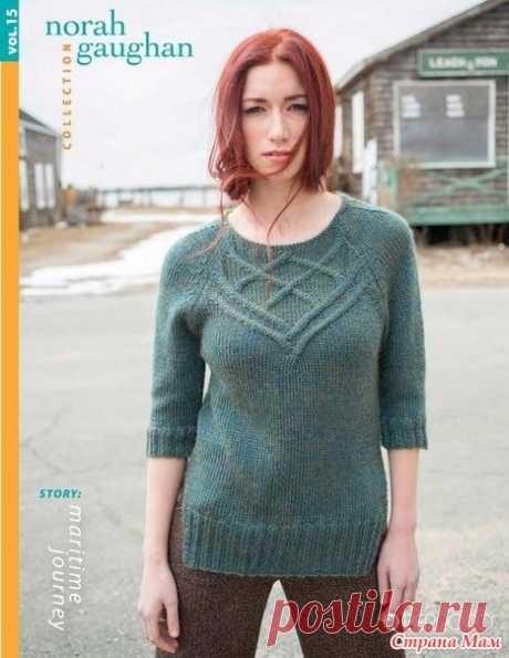 Мой пуловер Halyard от дизайнера Норы Гауган - Вязание - Страна Мам