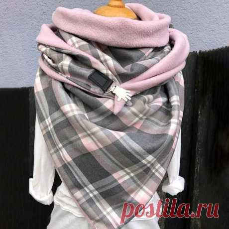 Women Cotton Plus Thick Keep Warm Winter Outdoor Casual Lattices Pattern Contras - US$21.99