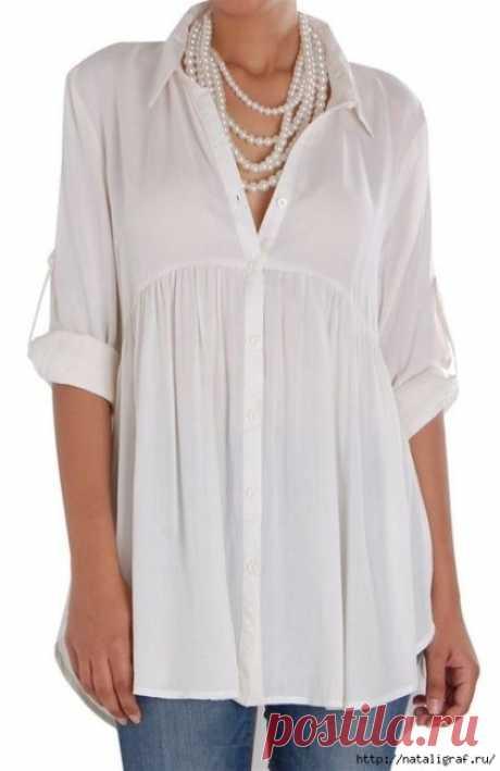 Белые блузы, рубашки и… которые всегда кстати и всем без исключения подходят! (Шитье и крой) – Журнал Вдохновение Рукодельницы
