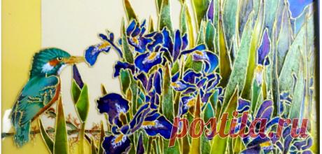 Самые популярные техники росписи по стеклу витражными красками Большинство мастеров пишут в стандартной контурной технике росписи витражными красками и не видят смысла использовать другие техники. А на самом деле точечная роспись по стеклу, многослойная техник…