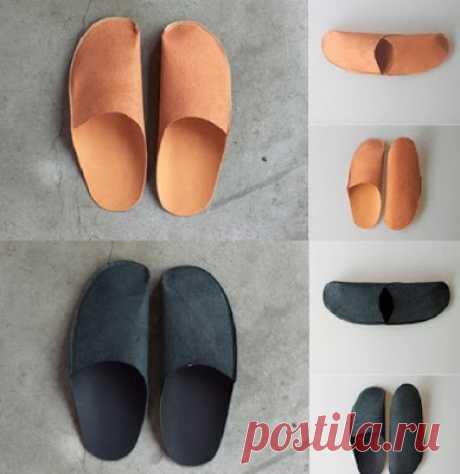 Como en una tarde coser el juego de las zapatillas para los invitados. ¡Es útil a las amas hospitalarias!