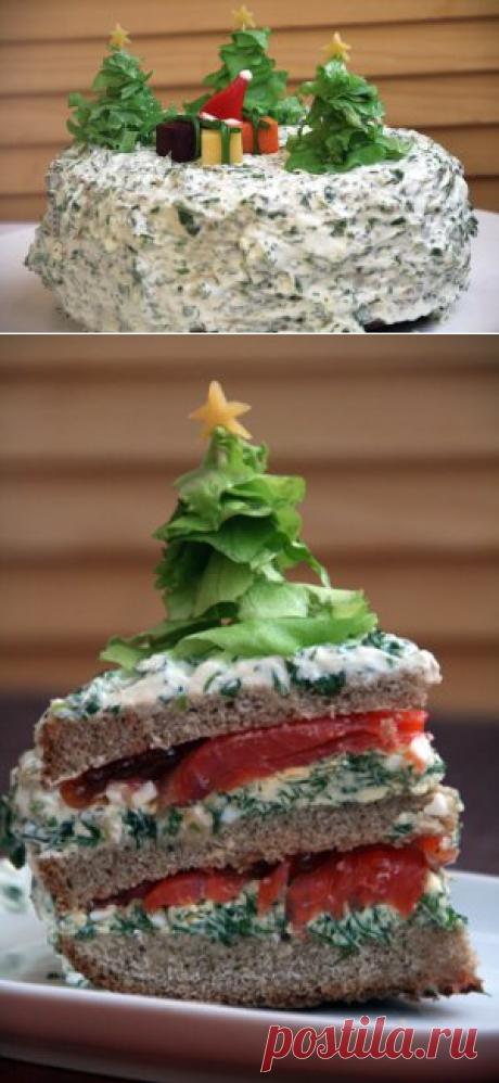 """Украшение новогоднего стола. Закусочный торт """"Чумовой"""" - кулинарный рецепт - Антрекот - большая кулинарная книга"""