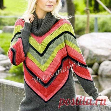 Пуловер спицами в мексиканском стиле Даже если у вас нет возможности отправиться в столь далекое путешествие, унывать не стоит!
