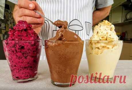Как приготовить дома 3 вида мороженого за 5 минут, с которым магазинное не сравнится  Совсем немного осталось до лета, а все мы знаем, что в этот сезон как никогда хочется съесть холодное и вкусное мороженое. Только сейчас производители не заморачиваются его натуральностью, а добавляют всякие усилители вкуса, красители и другие вредные добавки. Однако не обязательно покупать готовый десерт в магазине, ведь его можно с легкостью приготовить самостоятельно дома. Тогда вы то...
