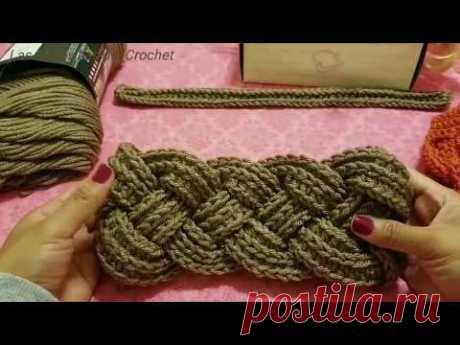 🍁Diadema Trenzada A Crochet (Ganchillo)
